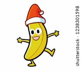 cute and funny banana wearing... | Shutterstock .eps vector #1238301598