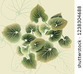 background with abstract leaves | Shutterstock . vector #1238304688
