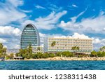 limassol waterfront with hotels ... | Shutterstock . vector #1238311438