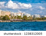 limassol cityscape and... | Shutterstock . vector #1238312005