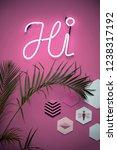 hi   neon light sign    Shutterstock . vector #1238317192