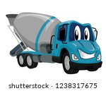 illustration of a cement mixer... | Shutterstock .eps vector #1238317675