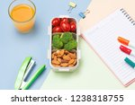 lunch box for school  rice... | Shutterstock . vector #1238318755