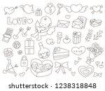 drawing valentain goods   Shutterstock .eps vector #1238318848