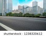 road ground and urban skyline... | Shutterstock . vector #1238320612