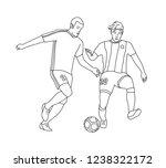 football players disputing a...   Shutterstock .eps vector #1238322172