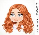 beautiful bewildered smiling... | Shutterstock .eps vector #1238340928