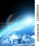 blue  planet earth  in space.   Shutterstock . vector #123834316