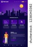 city webpage design template | Shutterstock .eps vector #1238343382