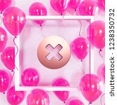 realistic fuchsia balloons with ... | Shutterstock . vector #1238350732