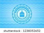 bottle of alcohol icon inside... | Shutterstock .eps vector #1238352652