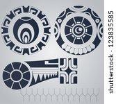polynesian elements tattoo... | Shutterstock .eps vector #123835585