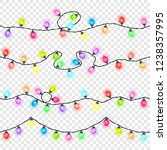 set of seamless festive colored ... | Shutterstock .eps vector #1238357995