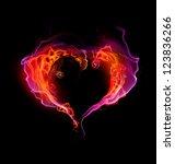 St. Valentine Burning Heart...