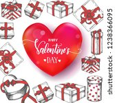valentines day background with... | Shutterstock .eps vector #1238366095