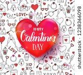 vector valentines day seamless... | Shutterstock .eps vector #1238366098