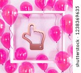 realistic fuchsia balloons with ... | Shutterstock . vector #1238369635