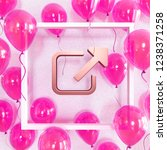 realistic fuchsia balloons with ... | Shutterstock . vector #1238371258