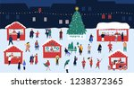christmas market or holiday... | Shutterstock . vector #1238372365