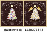 greeting vintage cards for... | Shutterstock .eps vector #1238378545