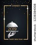2019  new year's eve dinner ...   Shutterstock .eps vector #1238384008