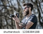 photographer with beard and... | Shutterstock . vector #1238384188
