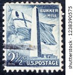 usa postage stamp   circa 1959  ... | Shutterstock . vector #1238390575