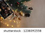 christmas composition. winter.... | Shutterstock . vector #1238392558