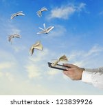 spreading of literature | Shutterstock . vector #123839926