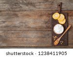 flat lay composition with corn...   Shutterstock . vector #1238411905