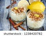portuguese rice pudding arroz...   Shutterstock . vector #1238420782