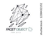 3d design  abstract vector... | Shutterstock .eps vector #1238432152