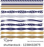 ropes. seamless pattern navy... | Shutterstock .eps vector #1238432875