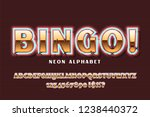 golden font with neon on the...   Shutterstock .eps vector #1238440372