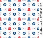 seamless pattern with thimbles... | Shutterstock .eps vector #1238451142