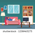 activities and free time at home   Shutterstock .eps vector #1238465275