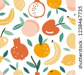 seamless pattern with hand...   Shutterstock .eps vector #1238467735
