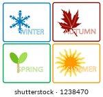 four seasons  separate items ... | Shutterstock .eps vector #1238470
