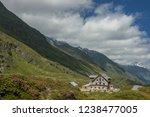 franz senn hutte  2 147 m asl ... | Shutterstock . vector #1238477005