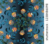 floral seamless vector... | Shutterstock .eps vector #1238486098