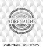 adrenaline grey badge with...   Shutterstock .eps vector #1238496892