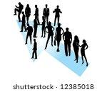 illustration of business people   Shutterstock .eps vector #12385018