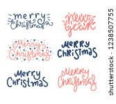 merry christmas and happy new... | Shutterstock .eps vector #1238507755