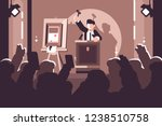 people at auction of art flat... | Shutterstock .eps vector #1238510758