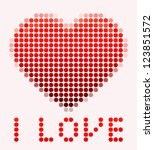 illustration of mosaic heart on ... | Shutterstock .eps vector #123851572