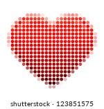 mosaic heart on the white...   Shutterstock .eps vector #123851575