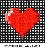 heart made from plastic...   Shutterstock .eps vector #123851845