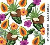 seamless floral pattern cartoon | Shutterstock .eps vector #1238518588