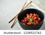 spicy chicken in sweet and sour ...   Shutterstock . vector #1238521762