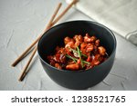 spicy chicken in sweet and sour ...   Shutterstock . vector #1238521765